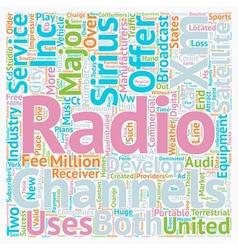 The development of Satellite radio in the United vector image
