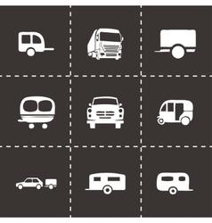 trailer icon set vector image