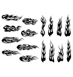 Tribal black fire flames tattoo design vector image vector image