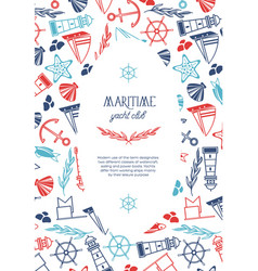 Vintage nautical poster vector