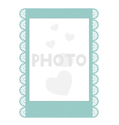Frilly instant photo frame vector