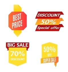 Color Sale Banner Set vector image