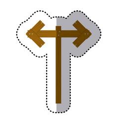 sticker wooden pointer direction path vector image