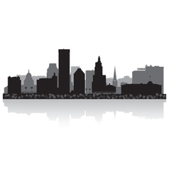 Providence usa city skyline silhouette vector