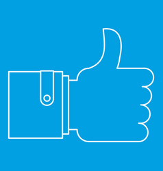 Approval and like sign icon outline style vector