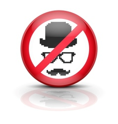 Anti spyware icon symbol vector
