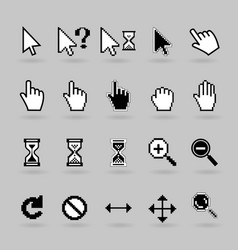 Cursors icons vector
