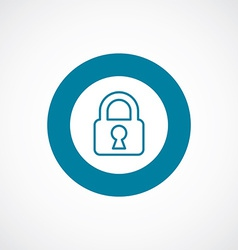 Lock icon bold blue circle border vector