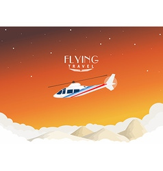 Helicopter travel background vector image