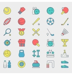 Sport bright icons vector