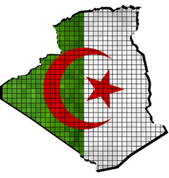 Algeria map with flag inside vector