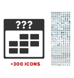 Unknown month icon vector