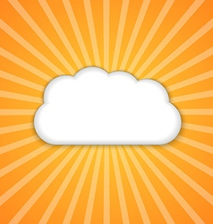 Abstract background with sun and clouds vector