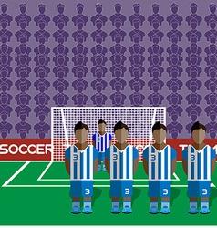 Honduras soccer club penalty on a stadium vector