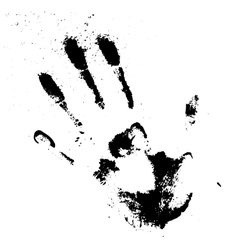 Black smeared hand of mascara vector