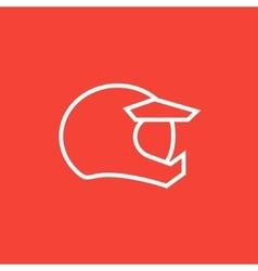 Motorcycle helmet line icon vector