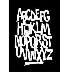 Hand lettering font alphabet vector