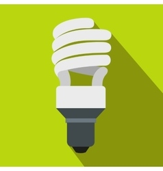 Energy saving bulb icon flat style vector