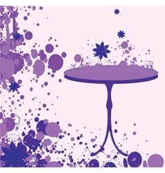 Grunge with table vector
