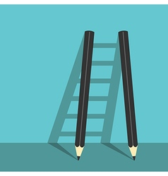 Success ladder of pencils vector