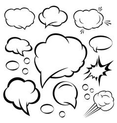 A set of comic bubbles and elements vector