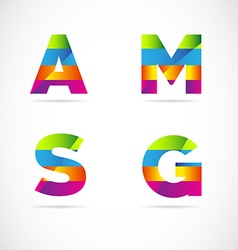 Alphabet letters logo icon set vector