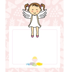 Baby girl with wings vector
