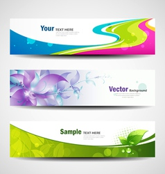 Banner headers colorful set vector image vector image
