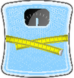 Bathroom blue scale vector image vector image