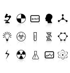 Black science symbols vector