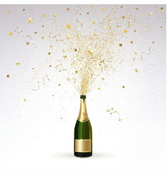 champagne and gold confetti vector image