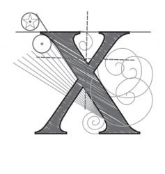 construction type x vector image