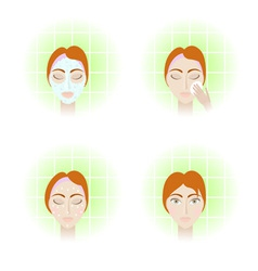 Face care stages vector
