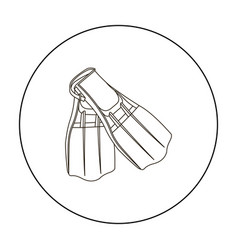 flippers icon outline single sport icon from the vector image