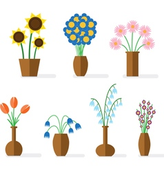 Flower flat colored vector image