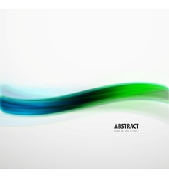 Green and blue techno abstraction wave vector image