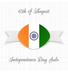 India independence day holiday label vector