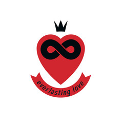 infinite love concept symbol created with vector image vector image