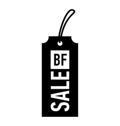 Label black friday icon simple style vector