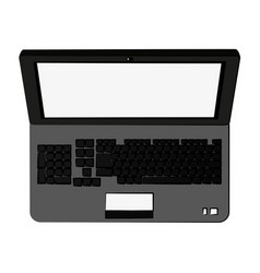 Laptop computer with blank screen icon image vector