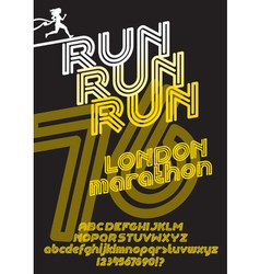 London marathon run poster vector