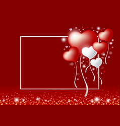 love concepts of heart balloon vector image vector image