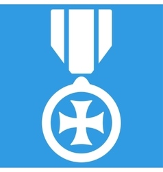 Maltese cross icon from competition success vector