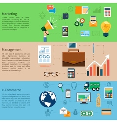 Marketing management and e-commerce vector
