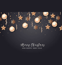 merry christmas and 2018 new year background vector image vector image