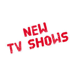 new tv shows rubber stamp vector image