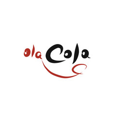 Olacola logotype - new cola brand idea vector