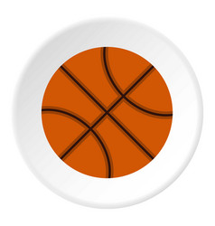 Orange basketball ball icon circle vector