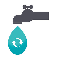 save the water tap icon vector image