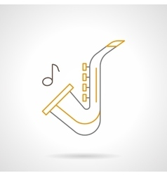 Sax melody flat line icon vector image vector image